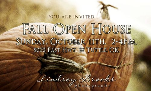 Fall Open House Invitation